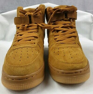 NIKE AIR FORCE 1 HIGH TOP WHEAT TAN 882096 200 MENS SHOE SIZE 11 NO BOX USED