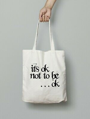 Mental Health Awareness Tote Shopping Bag, It's ok not to be ok