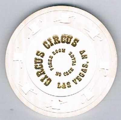 Circus Circus Poker Room No Cash Value White Casino Chip Las Vegas Nevada
