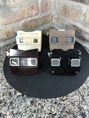 Lot X 4 Vintage GAF Sawyer's View-Master Viewers 1940's - 1970 Viewmaster Works