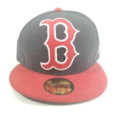 New Era Boston Red Sox 59Fifty Fitted Hat MLB Cap 7 1/2
