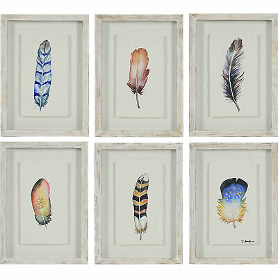 """Ren Wil W6602  Jules 18"""" X 13"""" (each) Plumage Wall Art with Wood Frame - Set of"""