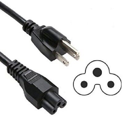 3 Prong AC Mickey Mouse Style Clover Power Cord Cable 5ft
