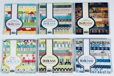 """6 Different Collections  $2.00 each Bo Bunny HUGE LOT 6/"""" x 6/"""" CARDSTOCK PADS"""
