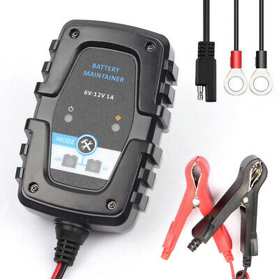 6V 12V 1A Full Automatic Car Battery Charger Intelligent Fast Power T8Q2
