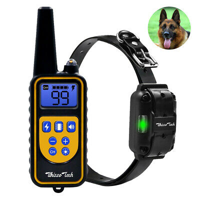 Rechargeable Dog Shock Training Collar Remote Control Waterproof IP67 875 Yards