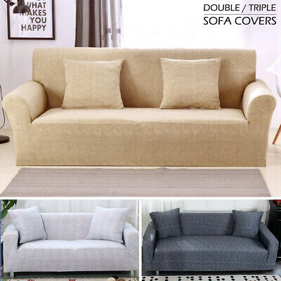 2/3 Seater Elastic Sofa Covers Slipcover Settee Stretch Couch Protector 2019