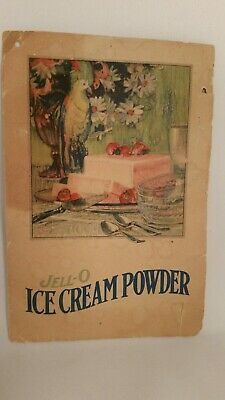1920`s JELL-O ice Cream Powder Advertising Brochure 2 pg GENESEE Pure Food VTG