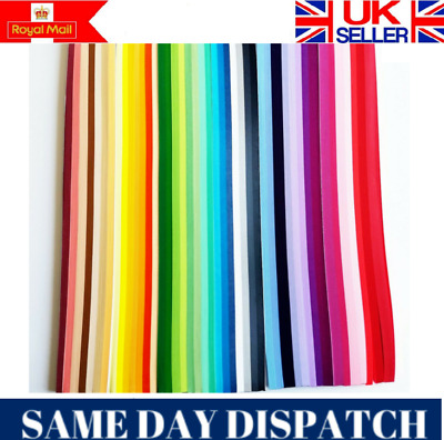 5mm Quality Quilling Paper 2200 strips 44 colours RED PURPLE YELLOW PINK GREEN