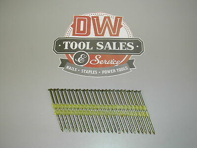 Hot Dip Galvanized Framing Nails 3 1/4″ 12d Screw Shank 21 Degree (2,000) Pla...