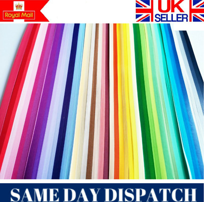 DIY 3mm Wide 2200 Quilling Paper Strips In Various Colours PURPLE PINK GREEN UK