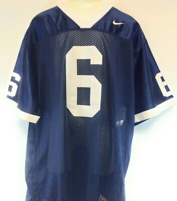 Kids Youth Boys Girls Penn State #6 Nike Screened Navy Blue Football Jersey
