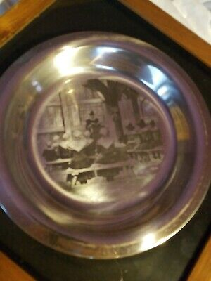 1975 Franklin Mint Thanksgiving service Sterling Silver Plate ~180 Grams Scrap
