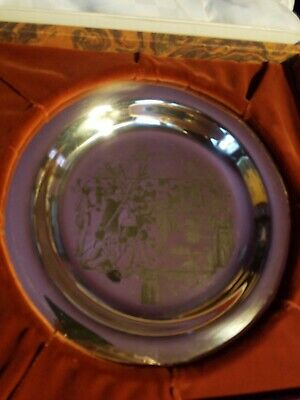 1972  1st Franklin Mint Thanksgiving plate Sterling Silver Plate ~180 Grams