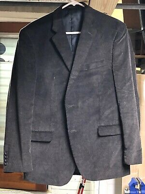 CHAPS (RALPH LAUREN) 42R dark brown Corduroy Sport Coat Jacket - two button
