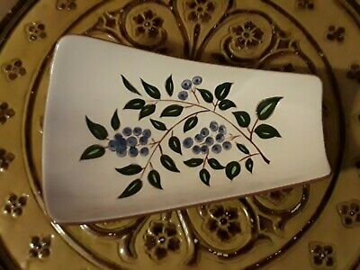 """Vintage Stangl """"Blueberry"""" 11 1/4-in Bread Tray Relish Dish A BEAUTY"""