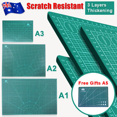 A1 A2 A3 PVC Thick Self Healing Cutting Mat Craft Quilting Art DIY Grid +A5 Gift
