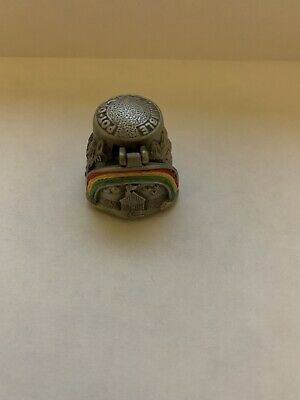 Pewter Thimble Signed by Nicholas Gish Pot Of Gold w/working lid Detail of Gold