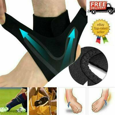 Adjustable Elastic Ankle Sleeve Brace Guard Foot Support Sports Running Injury ~