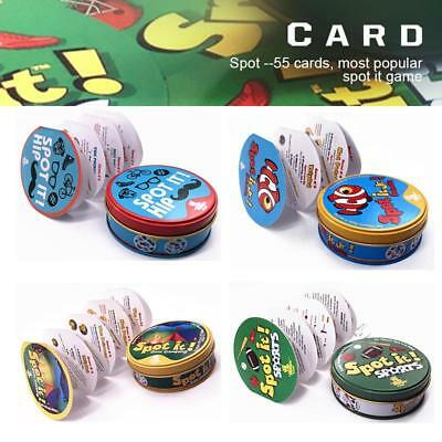 Board Card Game Educational For Kids Family Xmas Birthday Party Spot It Find It