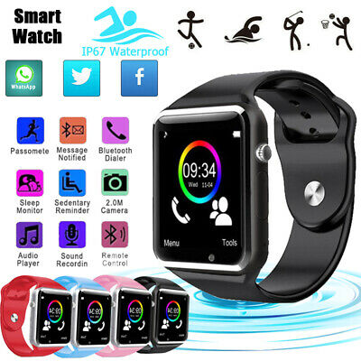 A1 Smart Watch Bluetooth Camera GSM SIM For Android IOS Phones Sport Tracker