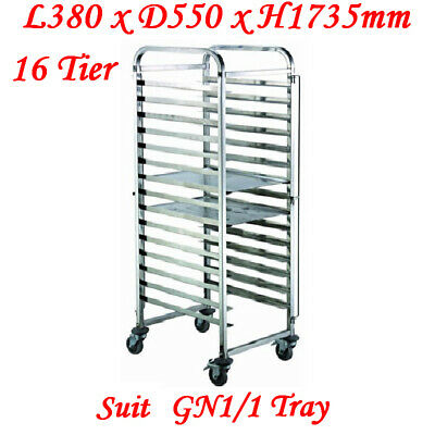Stainless Steel 16 Tier Gastronorm Tray Trolley (ZY331) suit 1/1 tray