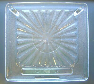 "Vintage Amana Radarrange Microwave Oven Glass Plate / Tray 14 1/2"" X 13 5/8"""