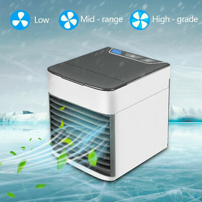 Mini Air Cooler Portable Conditioner Water Tank Fan Humidifier Evaporate Cool UK