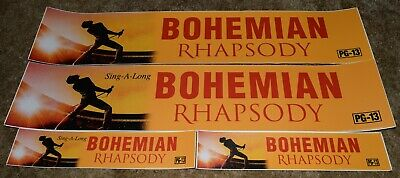 Bohemian Rhapsody Queen Movie Theater Mylar Banner Poster Large Small Lot 4 5X25