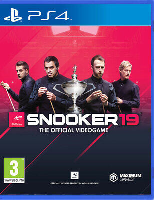 Snooker 19 (PS4) BRAND NEW AND SEALED - IN STOCK - QUICK DISPATCH - FREE UK POST