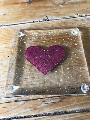 Handmade Fused Glass And Cooper Hearts Coaster