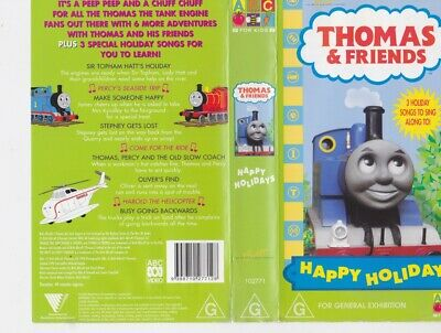 Thomas The Tank Engine Happy Holidays !Vhs Video Pal A Rare Find