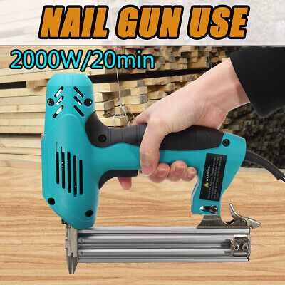 2000W 10-30mm Electric Straight Nail Staple Gun Heavy Duty Woodworking Tool 220V