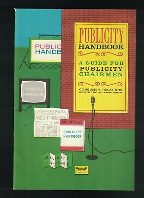Green Stamps Sperry & Hutchinson Publicity Handbook 1965 Guide for Chairmen