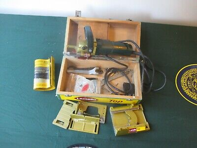 Lamello Top Biscuit Joiner With Attachments & Wooden Box Swiss Made Jointer