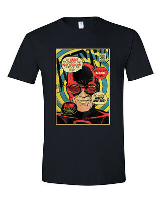 Stan Lee Daredevil Comic Book Cover Graphic T Shirt Avengers Marvel Super Heroes