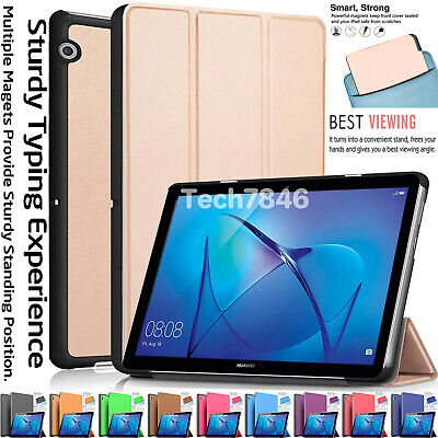 """Smart Flip Leather Magnetic Stand Case Cover For Huawei MediaPad T3 9.6"""" 8"""" 7"""""""