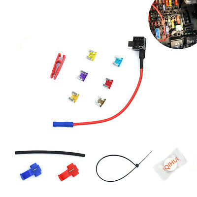 6 Pack 12V Mini Car Add-A-Circuit Fuse Tap Adapter ATM APM Blade Fuse Holder