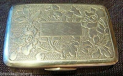 Antique Chinese Export Silver Box Signed MK (4746)