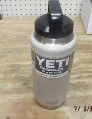 3a2fd45de4a Rambler Vacuum Insulated Stainless Steel Bottle with Cap, Yeti, 36 oz Sand