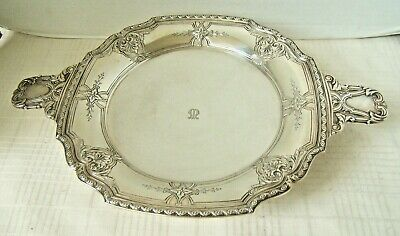 """Tiffany Sterling Silver Tray Early 20Th  Around 1913 13 3/8""""  Wide 1250.8 Grams"""
