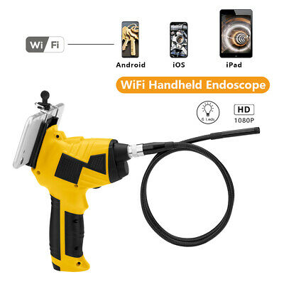 6LED WiFi Endoscope Borescope Inspection HD 1200P Camera IP68 For iPhone Android