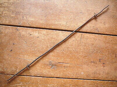 GLIDDENS TWO POINT TWO WRAP BARB on  VERY HEAVY ROUND LINE - ANTIQUE BARBED WIRE