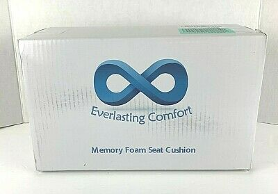 Everlasting Comfort 100% Pure Memory Foam Seat Cushion Fits Office Desk Chair