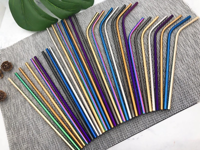 Premium Stainless Steel Metal Reusable Straw + Kid Silicone Tip, 7 Colour Avail