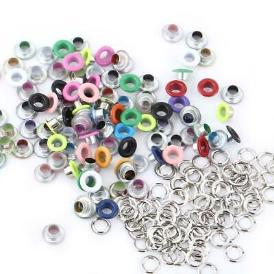 100Pcs 5mm Metal Eyelets with Washer DIY Leather Craft Scrapbook Card Colorful