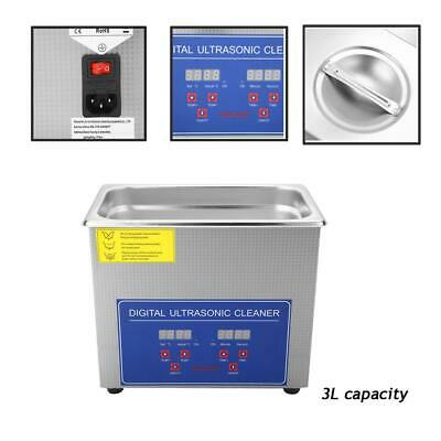 Au 2L/3L Digital Stainless Ultrasonic Cleaner Ultra Bath Cleaning For Tank Timer
