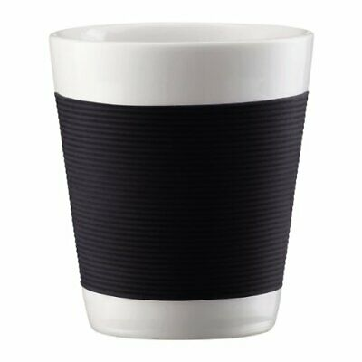 Bodum Canteen Porcelain Double Wall Espresso Cup with Silicone Grip