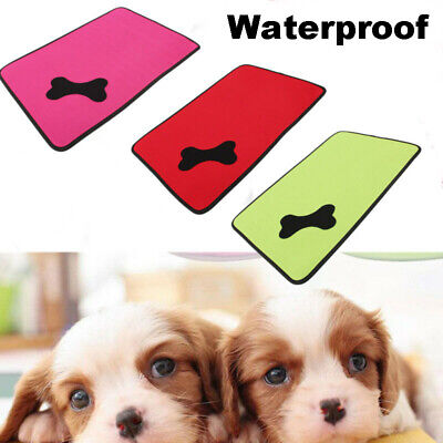 Waterproof Washable Cooling Cool Dog Bed Pet Cushion Mat Crate Cage Pad House