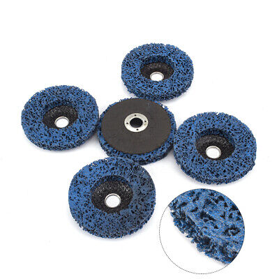 5Pc 100mm Abrasive Poly Strip Disc Grinding Wheel For Angle Grinder Rust Remover